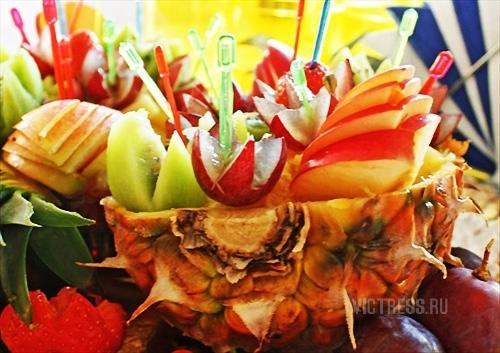 фруктовая нарезка для праздничного стола