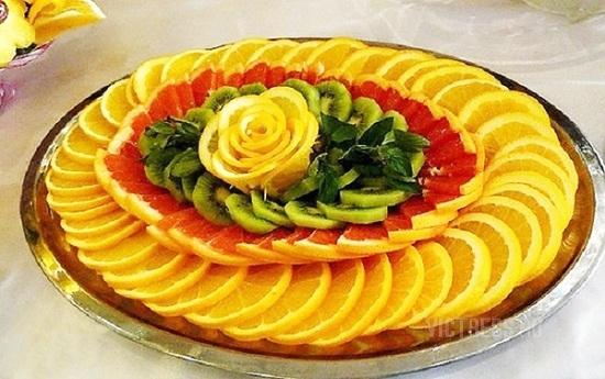 фруктовая нарезка на праздник