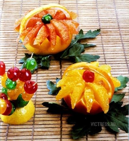 как сделать красивую нарезку фруктов