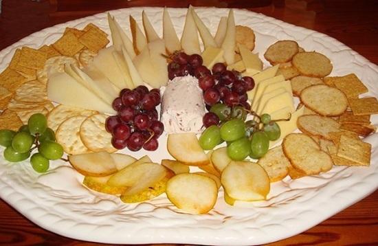фруктовая нарезка для сыра
