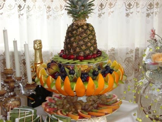 фруктовая нарезка для стола