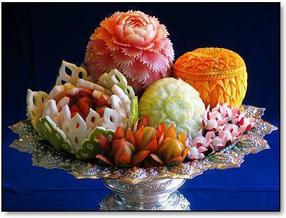 карвинг фруктовая корзина