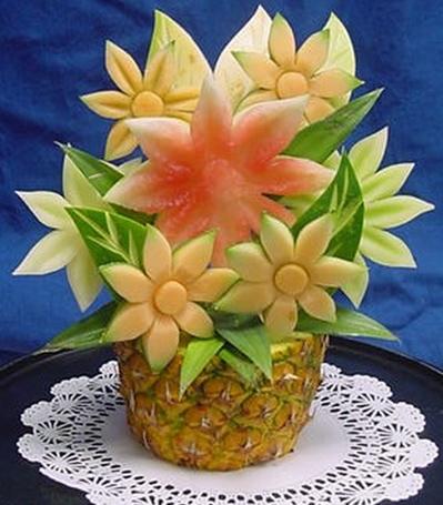 оригинальная корзинка из фруктов