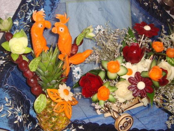 карвинг  фото корзины с овощами