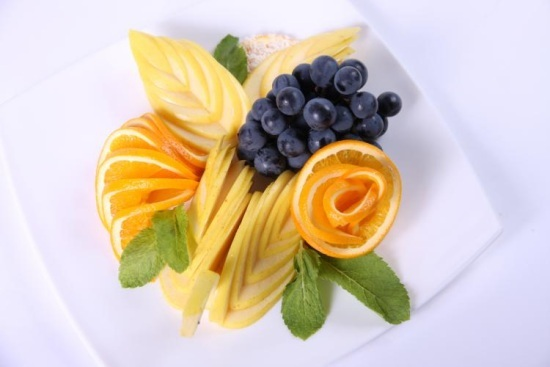 фруктовая нарезка для завтрака