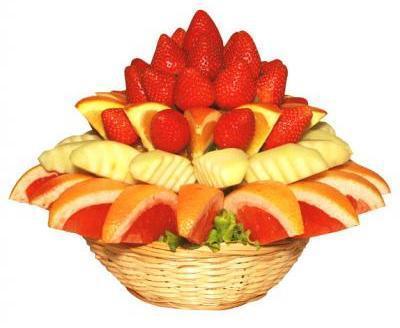 красивая корзинка с фруктами