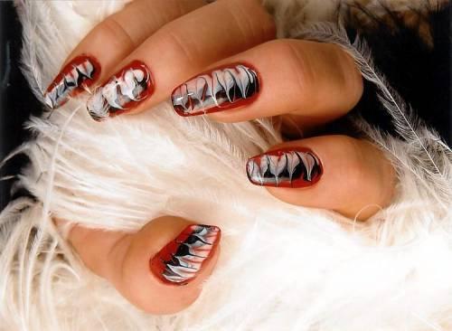 Рисуем на ногтях иглой