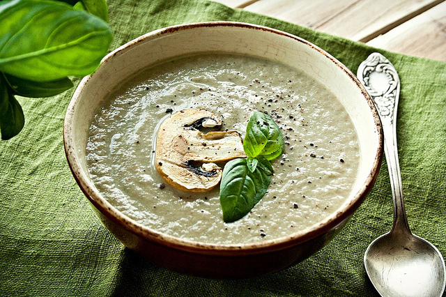 Французский крем суп с шампиньонами фото