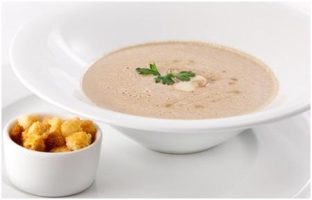 рецепт грибного крем супа с шампиньонами