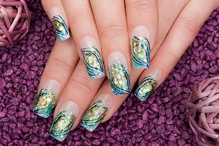 рисуем на ногтях в домашни условиях