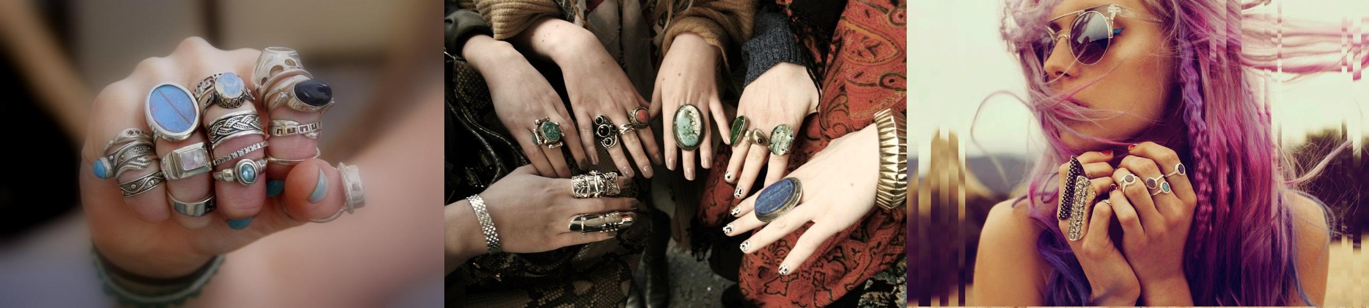 Какие кольца в моде 2018 фото