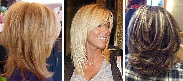Стрижки каскад женские на средние волосы