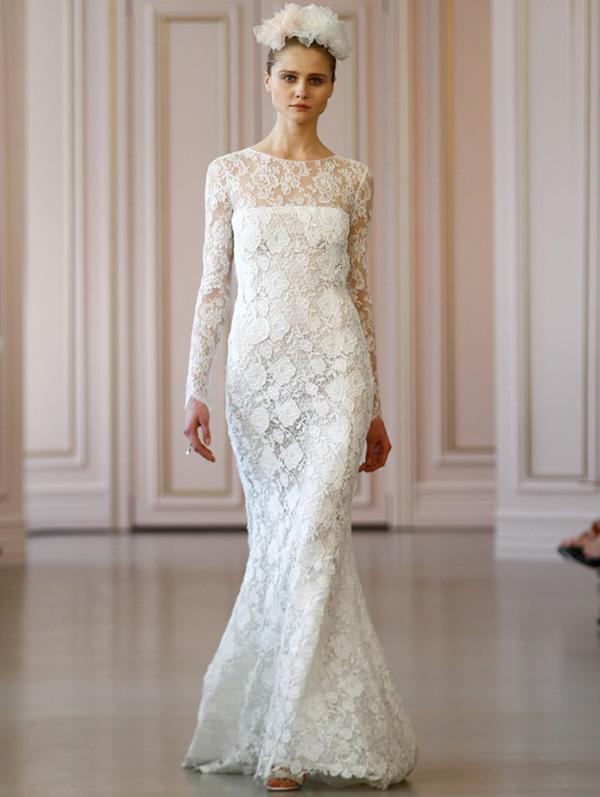 Свадебное кружевное платье 2016 фото