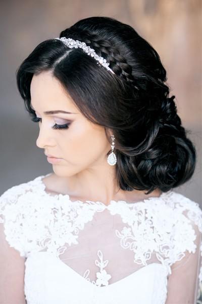 Свадебная фата фото 2015 с прической