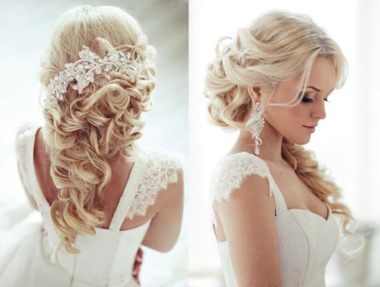 Прически на свадьбу на средние волосы с челкой
