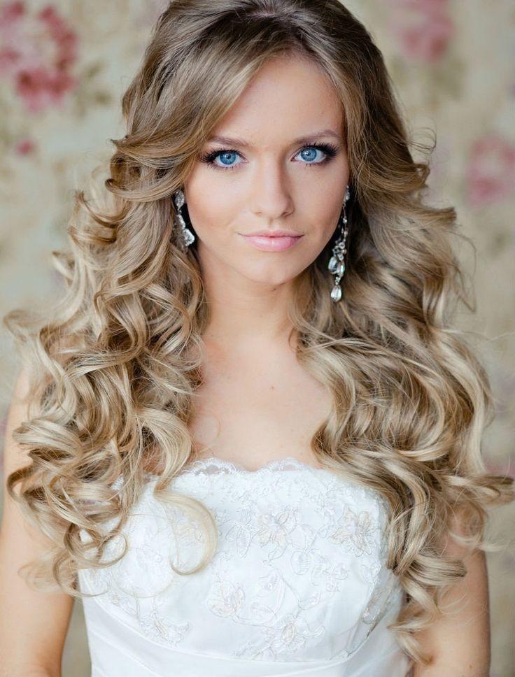 Свадебные прически на распущенные волосы с челкой фото