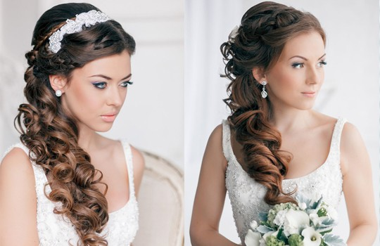 свадебные прически на длинные волосы фото 2016