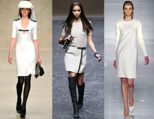 Классические зимние платья с