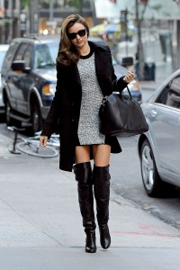 86630, NEW YORK, NEW YORK - Monday November 5, 2012. Miranda Kerr wears a short dress with thigh high boots and a warm coat as she is spotted out and about in NYC. The supermodel, who is in town to walk in the annual Victoria's Secret Fashion Show, turned the post Hurricane Sandy sidewalk into a catwalk as she made her way down the street. Photograph: ©Hall/Pena, PacificCoastNews.com **FEE MUST BE AGREED PRIOR TO USAGE** **E-TABLET/IPAD & MOBILE PHONE APP PUBLISHING REQUIRES ADDITIONAL FEES** LOS ANGELES OFFICE: +1 310 822 0419 LONDON OFFICE: +44 20 8090 4079