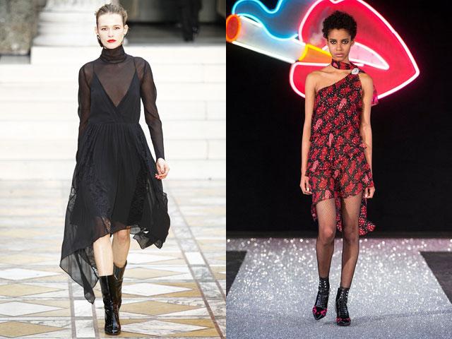 Асимметрия в коктейльных платьях