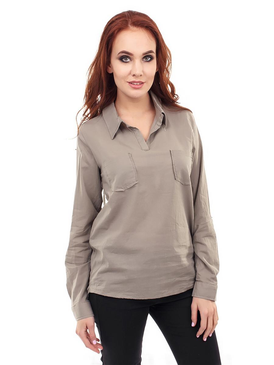 Серая блузка0-рубашка