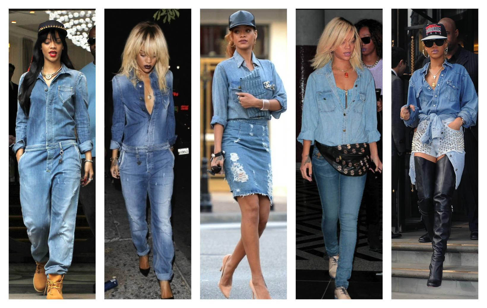 Разнообразие джинсовых модных рубашек