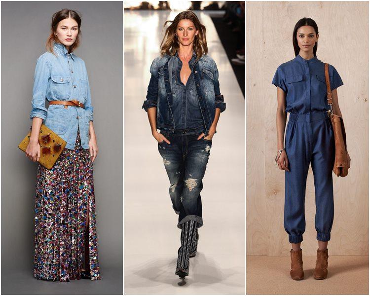 Ансамбль- джинсовая рубашка и брюки или юбка