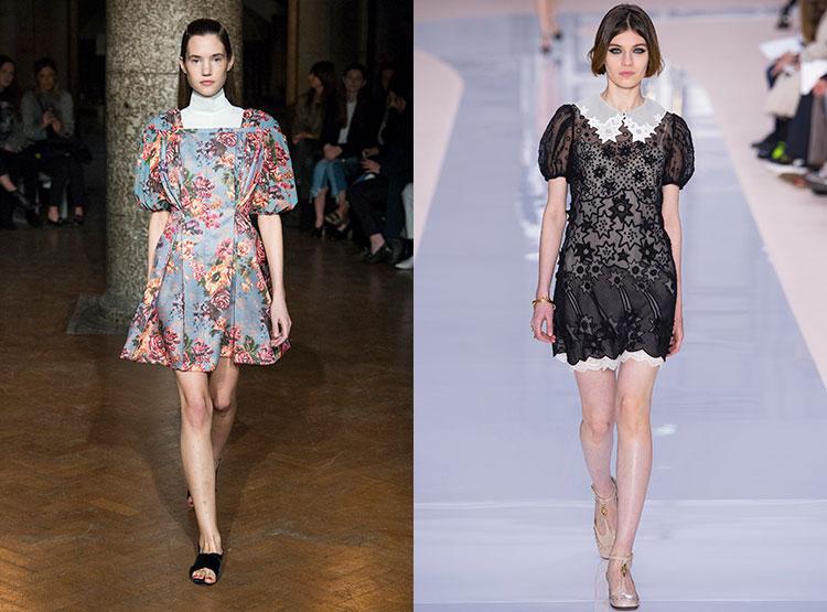 Повседневные платья с фонариками-рукавами
