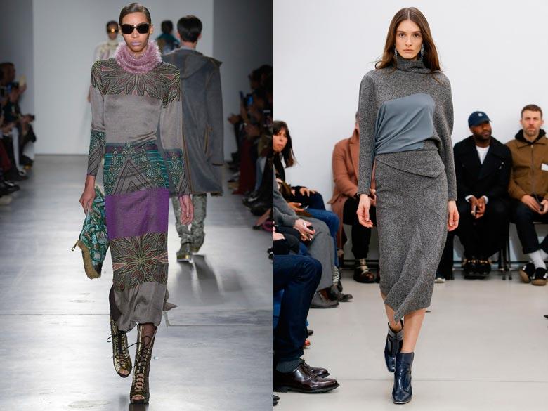 Осенне-зимнее платье свитер