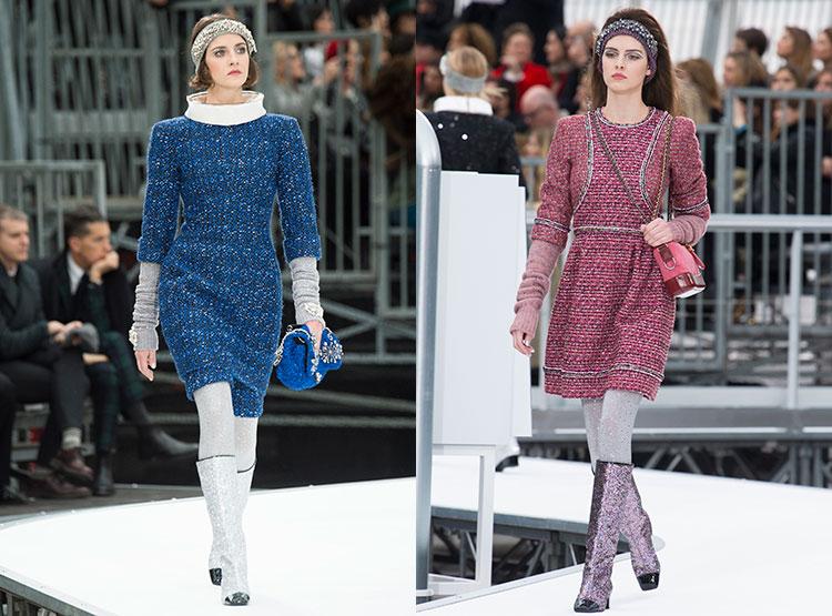 Синий и розовый цвет платьев для ежедневного
