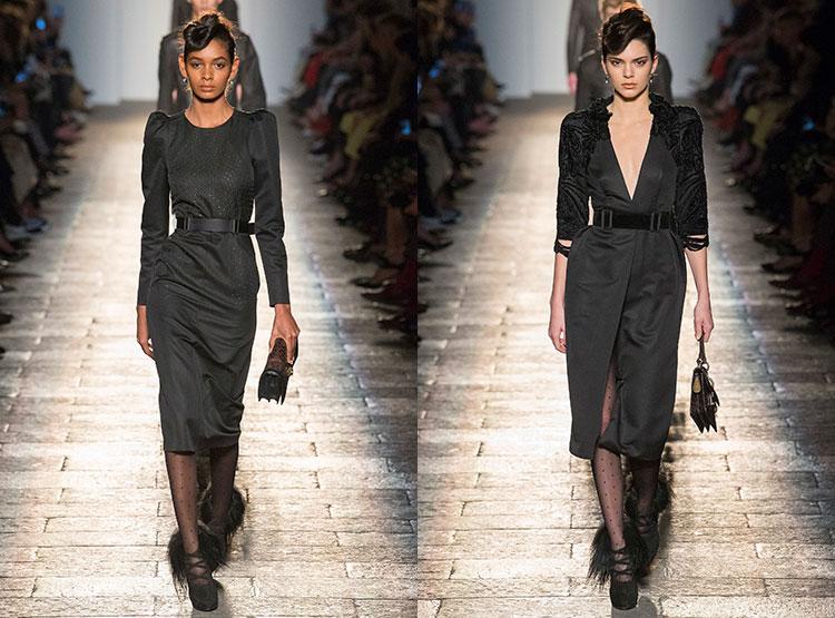 Серые и черные повседневные платья
