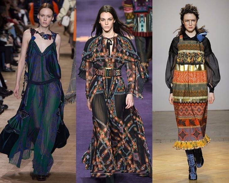 Этно стиль в платьях