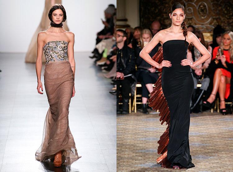 Изящные платья с лифом- бюстье