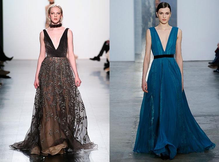 Красивые платья с глубоким вырезом