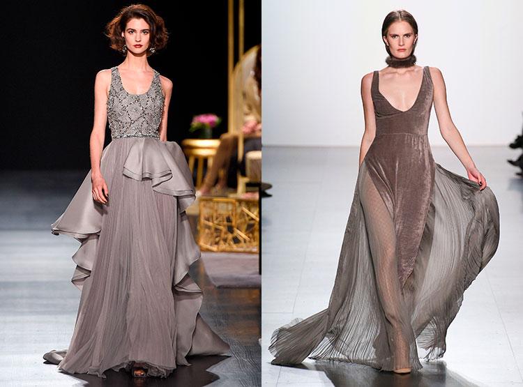 Длинные платья с шлейфом