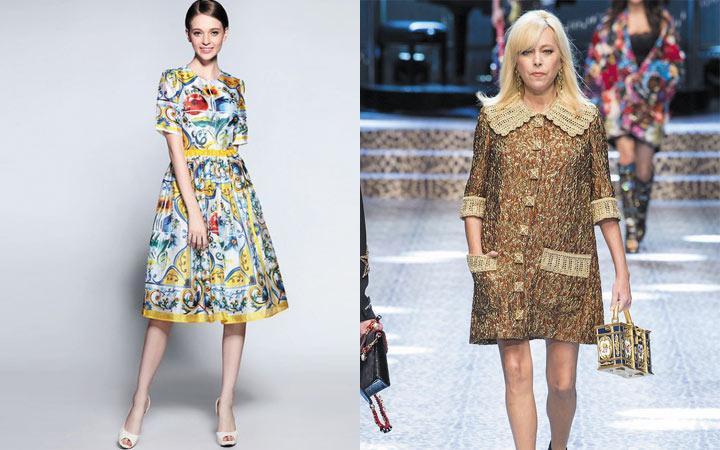 Варианты ретро-стилевых решений платьев