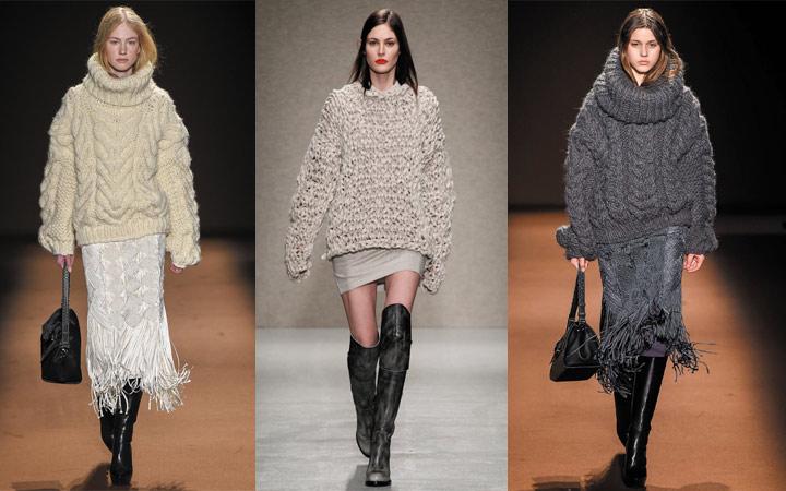 Модные тренды осень зима 2018 вязаные