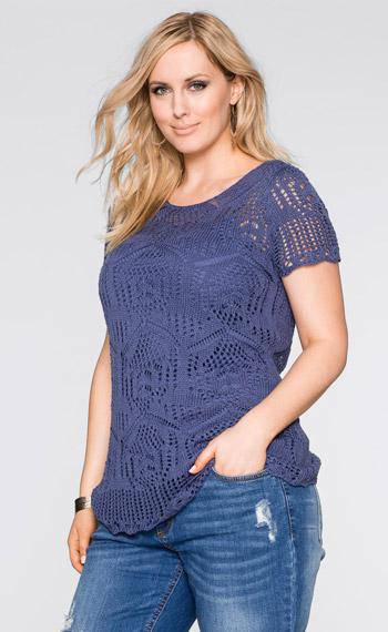 Синяя футболка большого размера