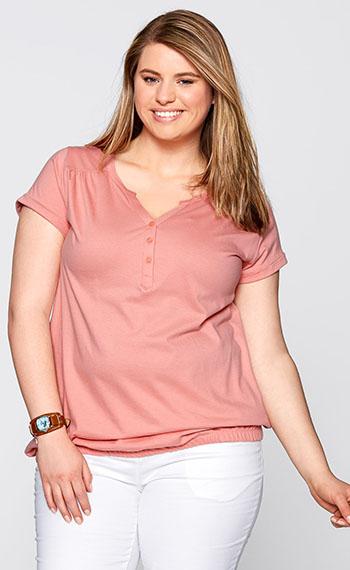 Женская футболка с V бразным вырезм горловины
