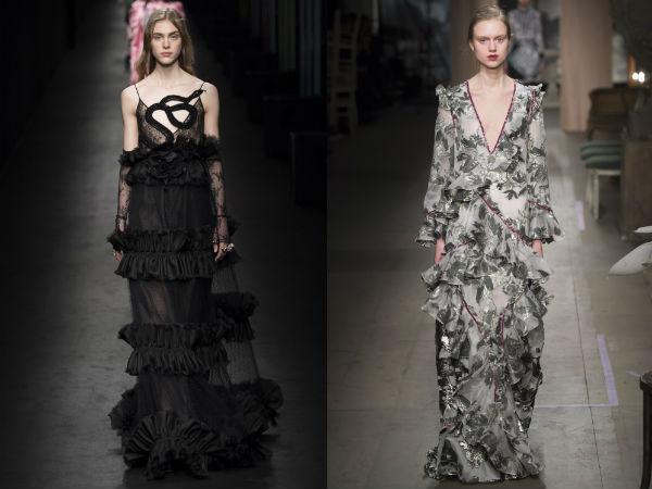 Многоярусные вечерние платья