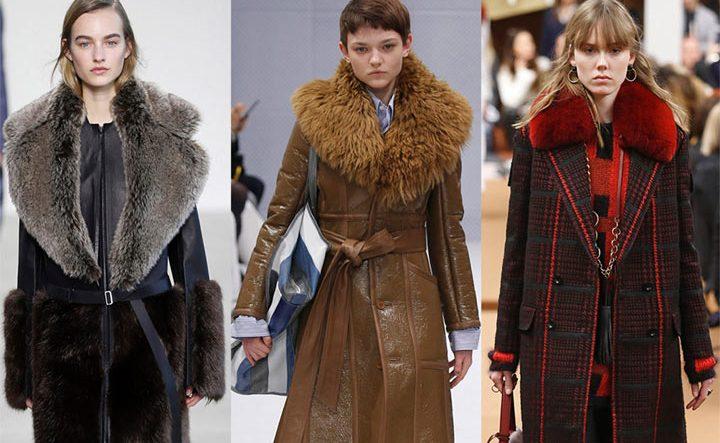 Меховые воротники на пальто