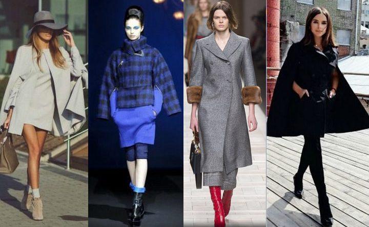 Вариации фасонов пальто