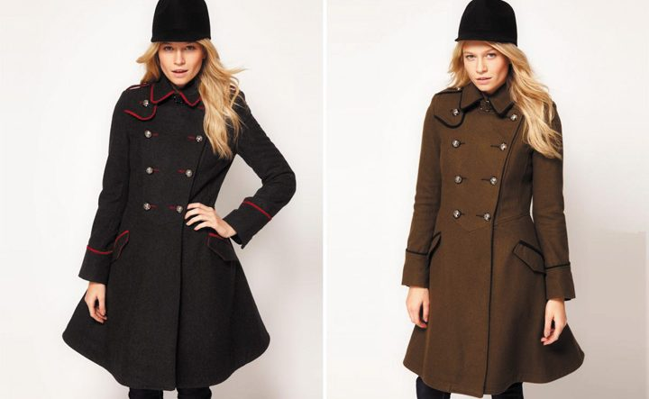 Пальто милитари стиль