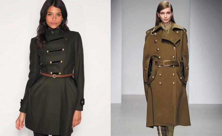 Пальто в милитари стиле