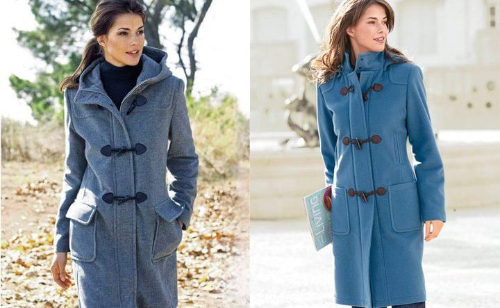 Дафлокт пальто голубого цвета
