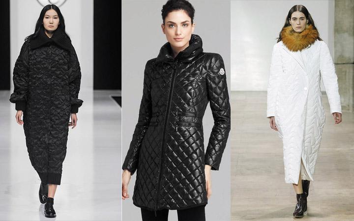 Черные и белые стеганные модели